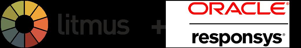 Litmus responsys logo lockup
