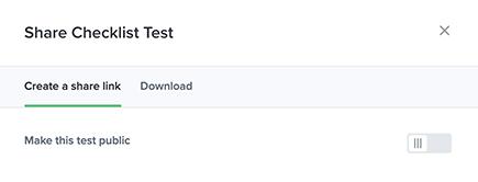 Share checklist test