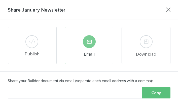 Share multiple emails