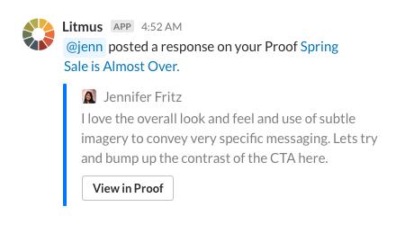 Slack notification