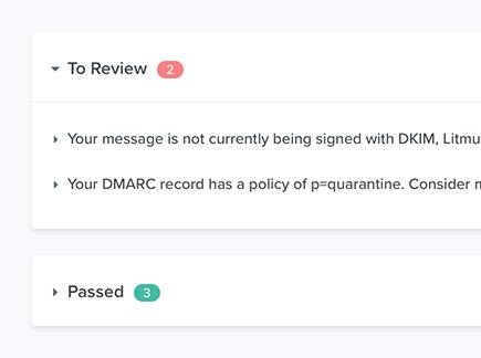 Spam testing litmus checklist