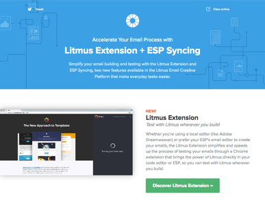 Litmus extension email