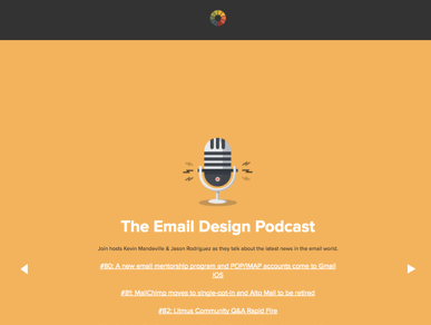 Litmus podcast email